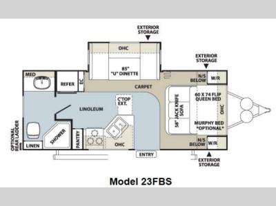 Floorplan - 2012 Forest River RV Flagstaff Super Lite 23FBS