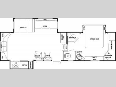 Floorplan - 2006 Forest River RV Cedar Creek 30 RKTS