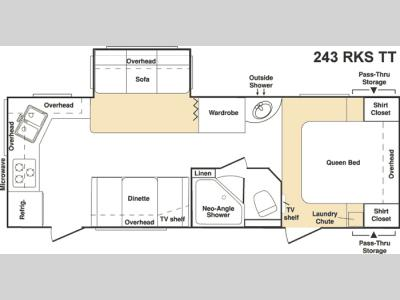 Floorplan - 2006 Keystone RV Cougar 243RKS