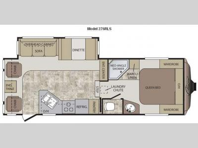 Floorplan - 2012 Keystone RV Cougar 276RLS