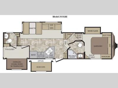 Floorplan - 2012 Keystone RV Cougar 293SAB