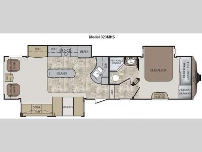 Floorplan - 2012 Keystone RV Cougar 323MKS