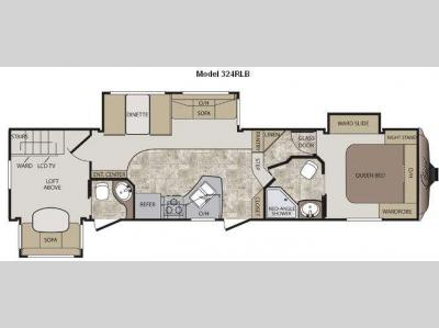 Floorplan - 2012 Keystone RV Cougar 324RLB