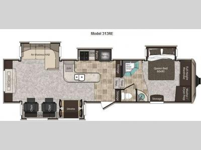 Floorplan - 2012 Keystone RV Montana High Country 313RE