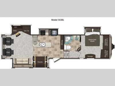 Floorplan - 2012 Keystone RV Montana High Country 343RL