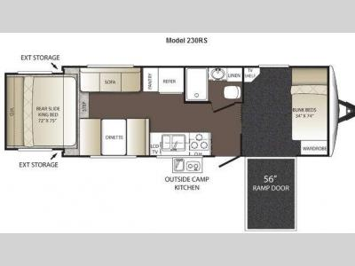 Floorplan - 2012 Keystone RV Outback 230RS