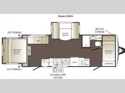 Floorplan - 2012 Keystone RV Outback 250RS