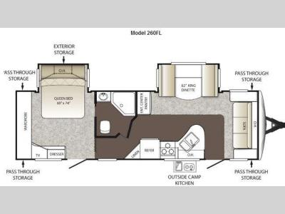 Floorplan - 2012 Keystone RV Outback 260FL