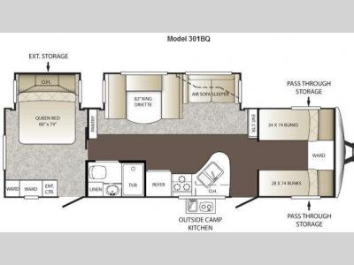 Floorplan - 2012 Keystone RV Outback 301BQ