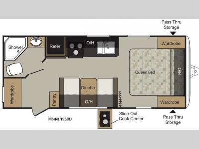 Floorplan - 2012 Keystone RV Passport 195RB