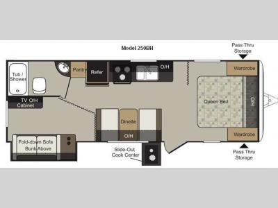 Floorplan - 2012 Keystone RV Passport 250BH