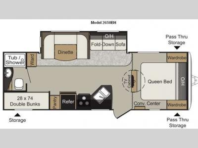 Floorplan - 2012 Keystone RV Passport 2650BH Grand Touring