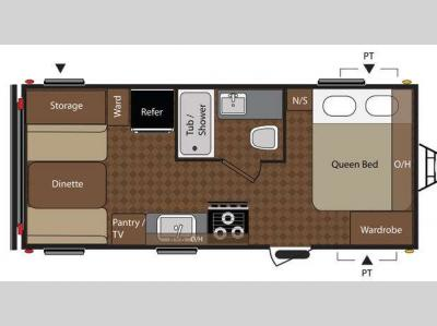 Floorplan - 2012 Keystone RV Summerland 1790QB