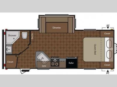 Floorplan - 2012 Keystone RV Summerland 2100RB