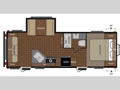 Floorplan - 2012 Keystone RV Summerland 2570RL