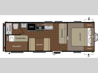 Floorplan - 2012 Keystone RV Summerland 2600TB