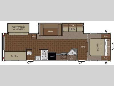 Floorplan - 2012 Keystone RV Summerland 3030BHGS