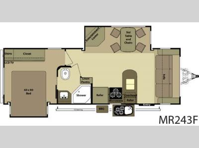 Floorplan - 2012 Open Range RV Mesa Ridge MR243F
