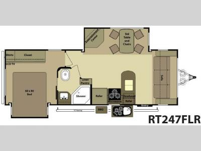 Floorplan - 2012 Open Range RV Roamer RT247FLR