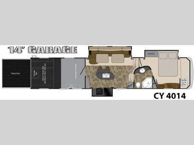 Floorplan - 2012 Heartland Cyclone 4014