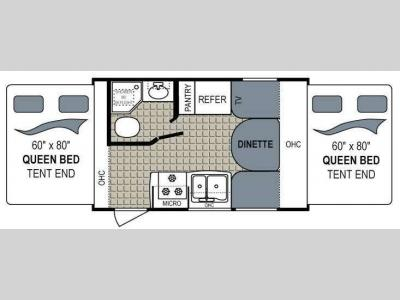 Floorplan - 2012 Dutchmen RV Aerolite 165E Shuttle