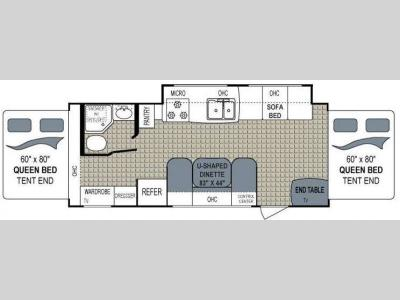 Floorplan - 2012 Dutchmen RV Aerolite 232E Shuttle