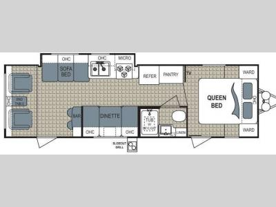 Floorplan - 2012 Dutchmen RV Aerolite 295RLGS