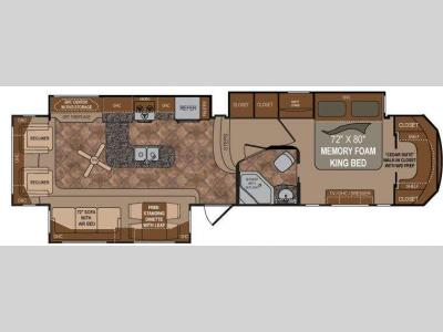 Floorplan - 2012 Dutchmen RV Infinity 3850RL
