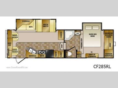 Floorplan - 2011 CrossRoads RV Cruiser CF285RL