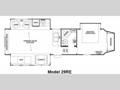 Floorplan - 2012 Forest River RV Cedar Creek Silverback 29RE