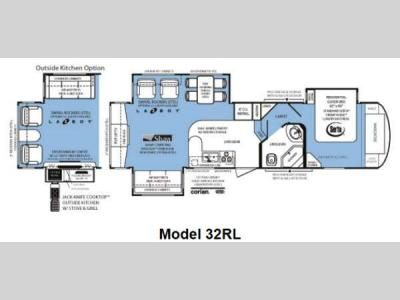 Floorplan - 2012 Forest River RV Wildcat Sterling Edition 32RL