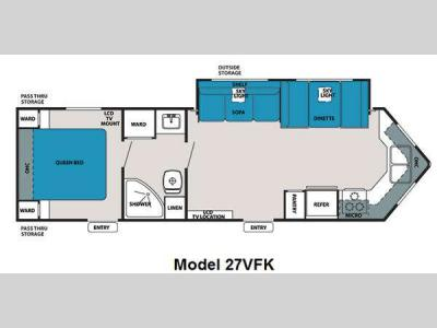 Floorplan - 2012 Forest River RV V-Cross Super Lite 27VFK