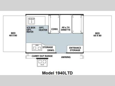 Floorplan - 2012 Forest River RV Rockwood Freedom LTD Series 1940LTD