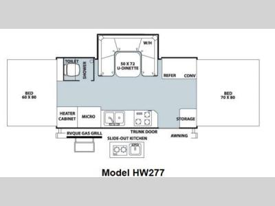 Floorplan - 2012 Forest River RV Rockwood High Wall Series HW277