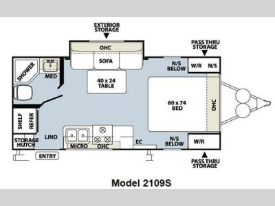 Floorplan - 2012 Forest River RV Rockwood Mini Lite 2109S