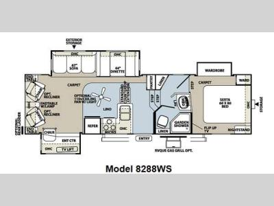 Floorplan - 2012 Forest River RV Rockwood Signature Ultra Lite 8288WS