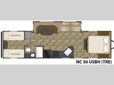 Floorplan - 2012 Heartland Trail Runner 30USBH SLT