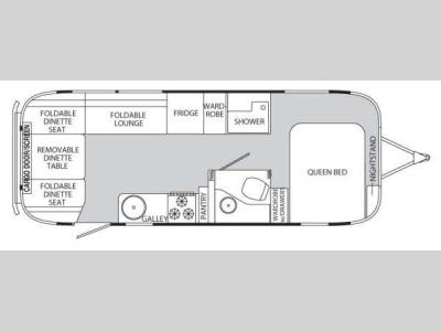 Floorplan - 2012 Airstream RV Eddie Bauer 25FB