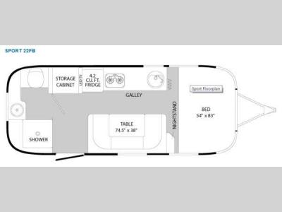 Floorplan - 2012 Airstream RV Sport 22FB Sport