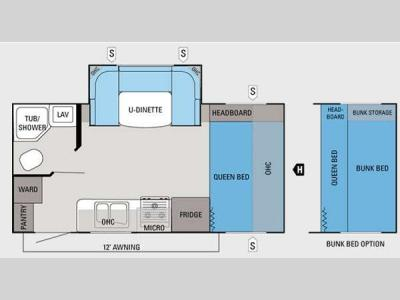 Floorplan - 2012 Jayco Jay Feather Ultra Lite 197
