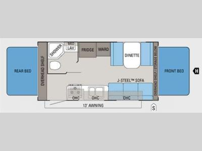 Floorplan - 2012 Jayco Jay Feather Select X19H