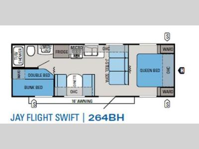Floorplan - 2012 Jayco Jay Flight Swift 264BH
