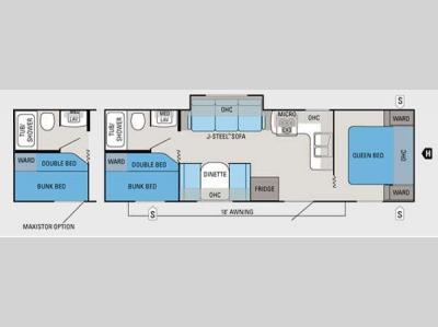 Floorplan - 2012 Jayco Jay Flight 28BHS
