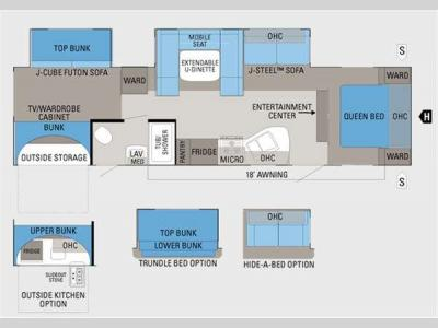 Floorplan - 2012 Jayco Jay Flight G2 32BHDS