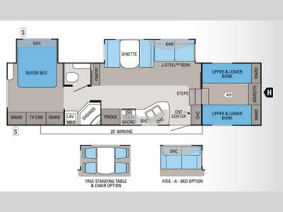 Floorplan - 2012 Jayco Eagle Super Lite 31.5FBHS