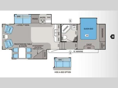 Floorplan - 2012 Jayco Eagle Super Lite 31.5RLTS