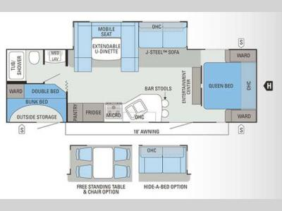 Floorplan - 2012 Jayco Eagle Super Lite 284BHS