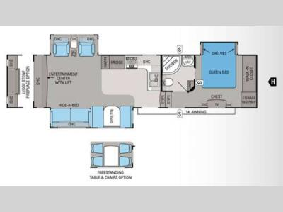 Floorplan - 2012 Jayco Eagle 321RLTS