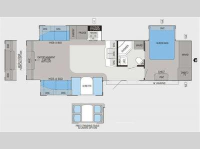 Floorplan - 2012 Jayco Eagle 330RLTS