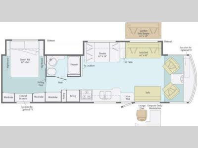 Floorplan - 2012 Itasca Sunstar 36D